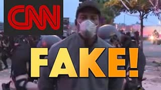 CNN CAUGHT RED HANDED FAKING BEING ARRESTED BY STATE PATROL ROFLMAO!