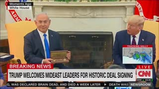 Trump gives BiBi the key to the White House there telling you in your face who controls United State