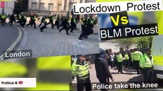 London anti-lock down protest vs BLM protest