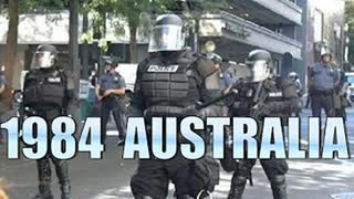 POLICE STATE AUSTRALIA! MELBOURNE IS FULL BLOWN 1984! wake up there is no virus