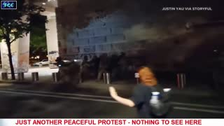 Insurgent Caught On Camera Attacking Federal  Marshal With A Hammer In Portland