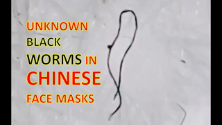 Unknown Black Worms Found in Chinese Face Masks
