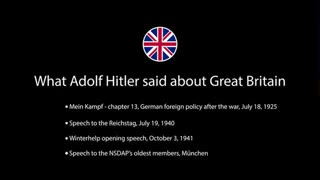 Adolf Hitler's Thoughts About The United Kingdom