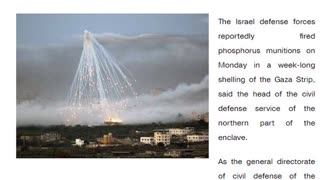 Reports Of Phosphorus Shells Now Being Used By IDF - 5/17/2021 - NewsAM