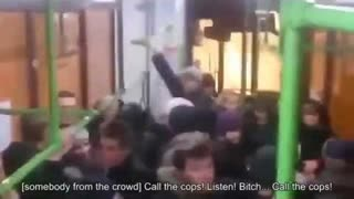 A Jewish Woman Screams And Threatens The Goyim