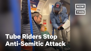 Man Attacking Jewish Family Stopped by London Tube Riders | NowThis