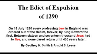 The Edict of Expulsion of 1290, expelling Jews from England Intro  Geoffrey Smith & Arnold Leese