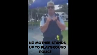 NZ MOTHER STANDS UPTO PLAYGROUND PIGS