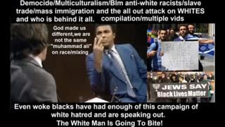 democide/multiculturalism/blm/slave trade/anti white hatred & who is behind it all.