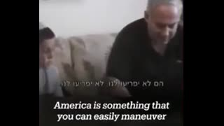 Bibi bragging he controls the US and can bomb Palestine with impunity