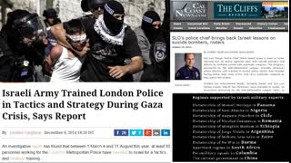 US/UK police trained in Israel order out of chaos the Zionist plan