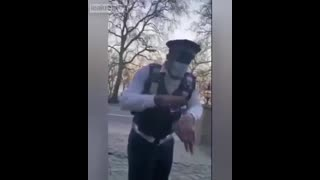 UK INVADER claims to be a traffic warden, starts harassing white driver