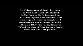 Robert Willner injects himself with AIDS/HIV on television