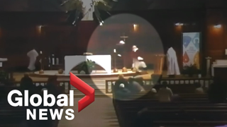 Montreal priest stabbed: Video captures violent attack during morning mass