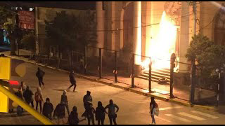 Normal people burning down Catholic Churches in Mexico and South America