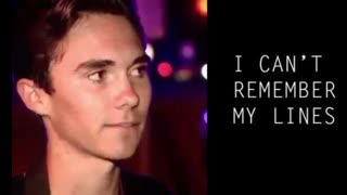"""""""DAVID HOGG FORGETS LINES crisis actor"""
