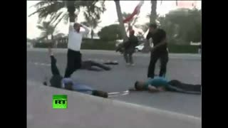 Arab Spring 2011 -Protesters injured in Bahrain as troops open fire