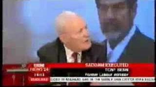 SADDAM HUSSEIN EXECUTION - TONY BENN INTERVIEW