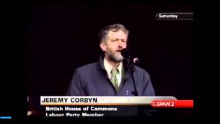 Jeremy Corbyn speaking at biggest protest in UK history against Iraq war