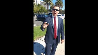 Patrick Little speaks after getting kicked out of California GOP convention April 5 2018