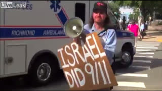 """""""ISRAEL DID 9/11"""" - CHRIS DORSEY HITS THE STREETS OF VIRGINIA WITH MEGAPHONE (SOUNDING TRUTH BOMBS)"""