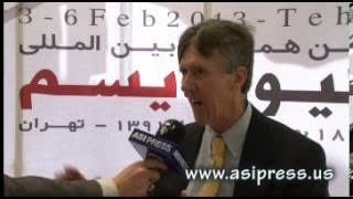 Interview with E. Michael Jones at the 3rd Hollywoodism International Conference in Tehran