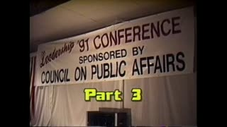 AVOF 082 - Leadership Conference 91 part 3 - Malcolm Ross - The Fight for Western Civilization