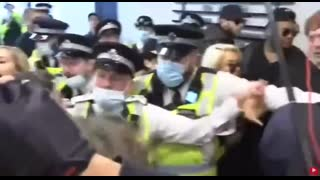 LONDON - The people raid media offices of channel 4 & ITV