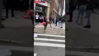 USA RIOTS GONE WRONG ! #Newyork stealing #NIKE sneakers , is that triggered by George flyod death ?