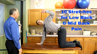 10 Stretches for Low Back or Mid Back Pain- Everyone Should Do.