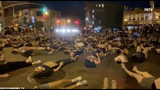 Hundreds stage a Die-in for victims of police brutality in New York