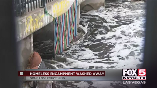 Las Vegas homeless displaced from storm drains after rain