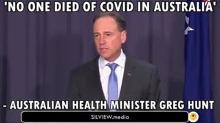 Australian MP: No People Who Have Caught Covid in Australia and Passed Away