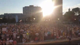 Huge Protests Against COVID-19 Vaccine Passports in Colon, Madrid Spain (2021.08.07)