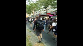 Berlin: German Protest Groups Unite, Despite Police Efforts to Keep Them Separated - Part 1 (2021.08.01)