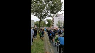 Berlin: German Protest Groups Unite, Despite Police Efforts to Keep Them Separated - Part 2 (2021.08.01)