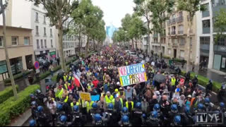 Incredible Scenes - French Protesters Today In Paris France (2021.08.07)