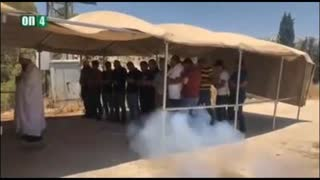 Jewish Soldiers tear gas Muslims for praying