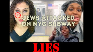 Jews Attacked On Subway Psy-Op - *(Jewess Is Clearly Wearing Moulage on Face)*