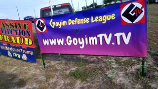 Flagging with, GoyimTV and Election Fraud Banners