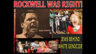 JEWS MANIPULATE BLACKS FOR COMMUNIST TYRANNY AND WHITE GENOCIDE - George Lincoln Rockwell