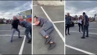 Father Beats Invader Trying to Snatch His Daughter
