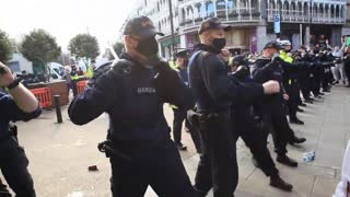 Bring a Baton.The Irish Were just like Palestine, When Police Brutally Attacked Protestors On 27th Feb 2021