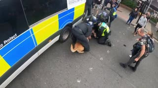 Bring a Baton.Dog Torn flesh. The British just like palestine, When Police & Their Dogs Brutally Attacked Protestors On 29th Aug 2021