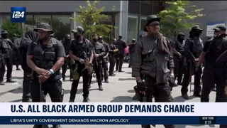 US All Black Armed Group Demands Change