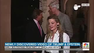 Trump hanging out with israeli intel agent jeffrey epstein