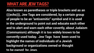 What Are (((Jew Tags)))