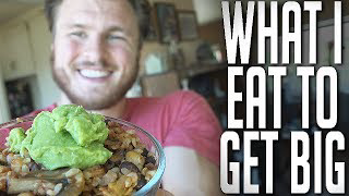 WHAT I EAT TO BECOME 225 LBS | Vegan Bodybuilding Meal Plan