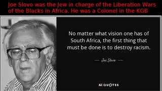 Top Communist Jew: Ronnie Kasrils: The real reason why Jews HATED Apartheid like they hated NAZIs
