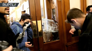 Moment woman gets shot during US Capitol siege   [Disturbing footage]